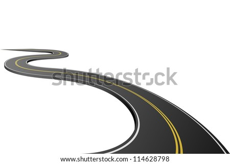 abstract asphalt road isolated