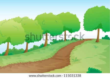 detailed illustration of a road