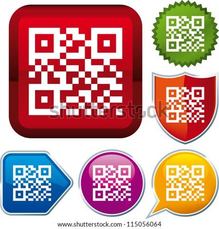 vector icon  qr code