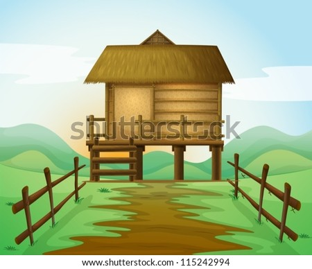 illustration of a hut in a
