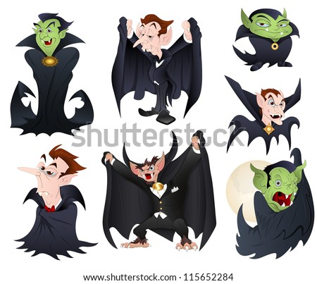 vector illustrations of dracula