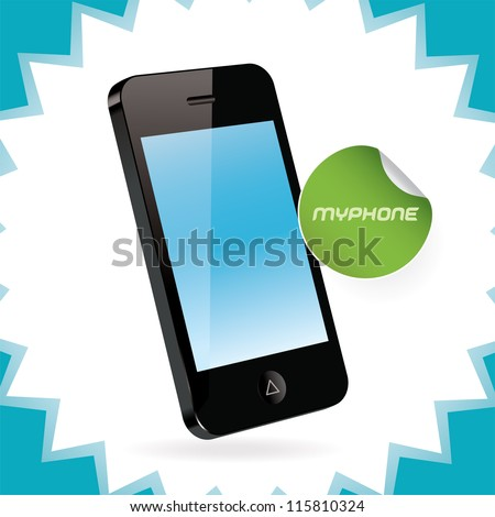 vector mobile phone  iphon