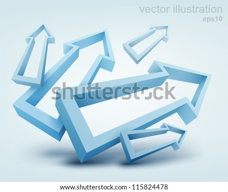 vector illustration of 3d