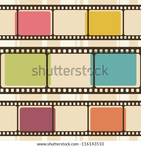 retro background with film