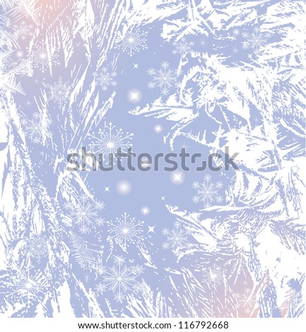 abstract image of winter frost