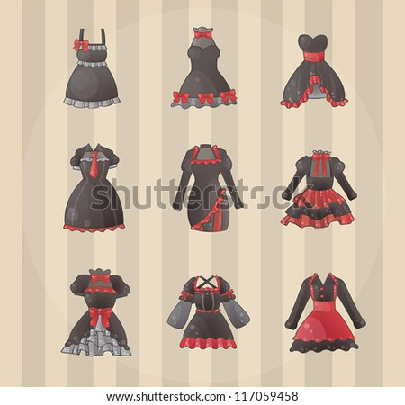 sets of gothic dresses  create