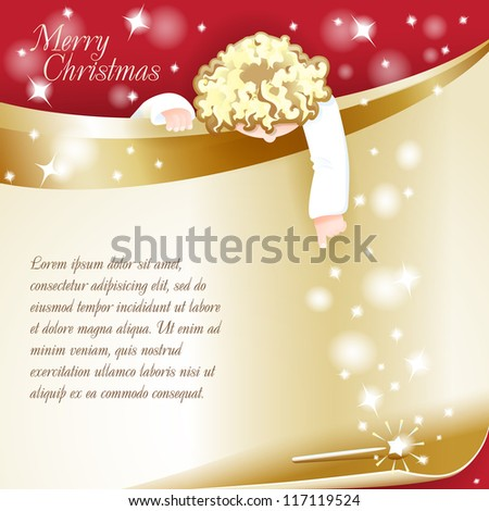 new year theme christmas card