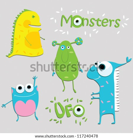 vector illustration monsters