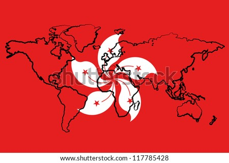 the flag of hong kong with the