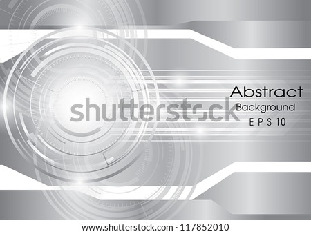abstract technology silver