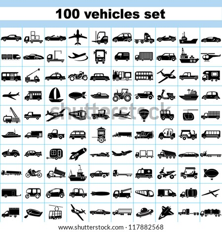100 vehicles  set of vehicles