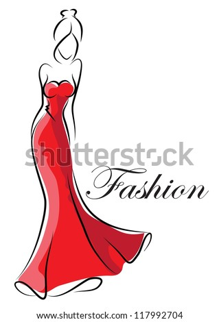 fashion woman  hand drawing