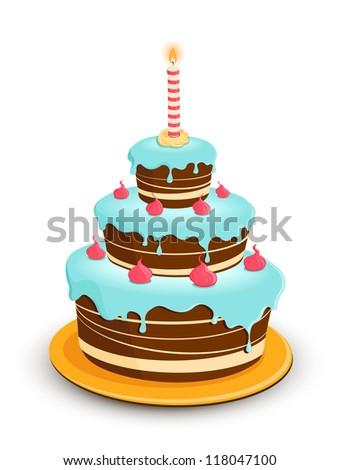 Cartoon birthday cake free vector download 15476 Free vector
