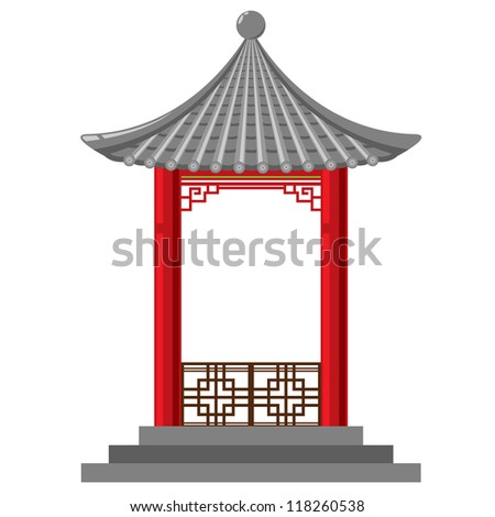 Chinese Temple Vector Chinese Asian Temple Shrine