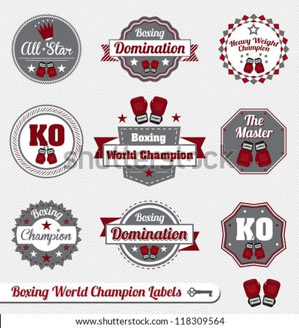 vector set  boxing world