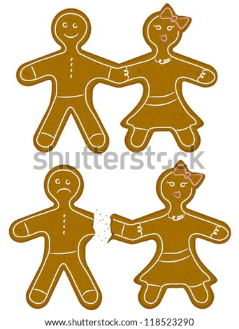 gingerbread couple break up