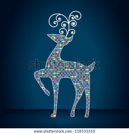 elegant reindeer illustration