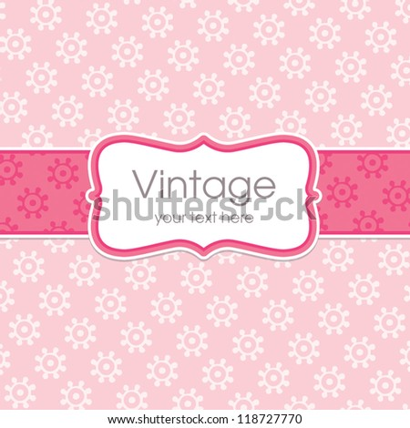 vector greeting card template