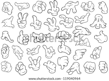 hand gestures   vector