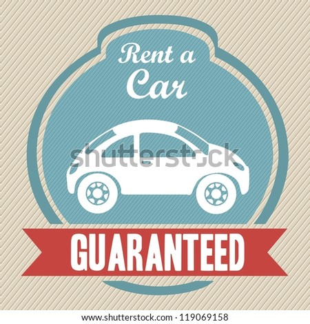 illustration of rent a car