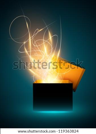 sparkling vector present box