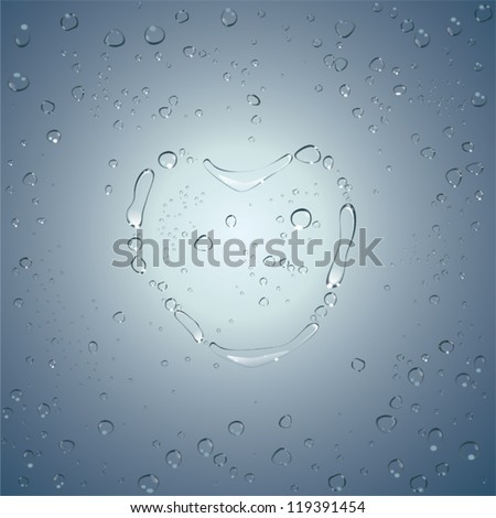 heart water drops vector