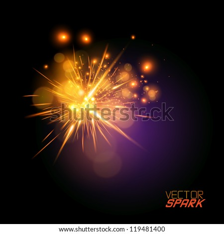 vector spark effect   beautiful