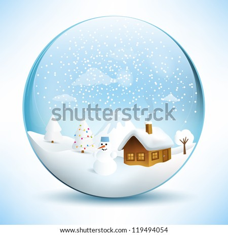 christmas sphere scenery