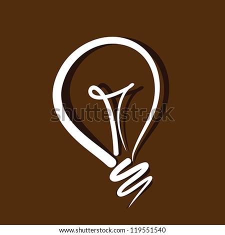 light bulb vector on brown
