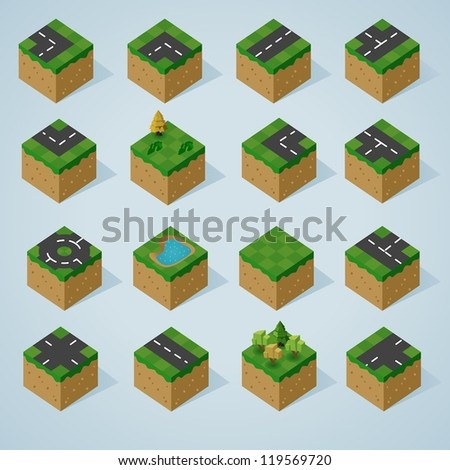 pre assembled isometric world