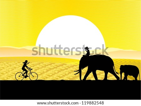 a woman riding bicycle in south