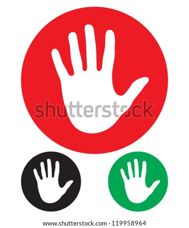 stop hand sign