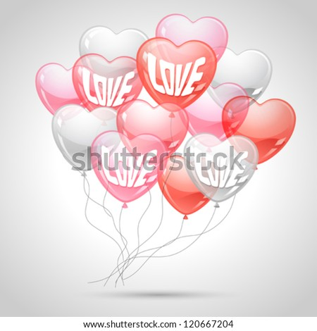 background with flying balloons