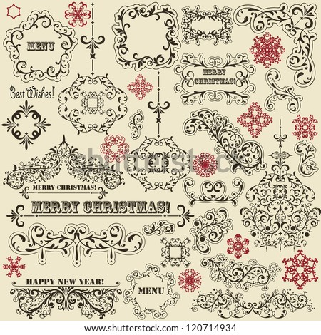 vector vintage holiday floral