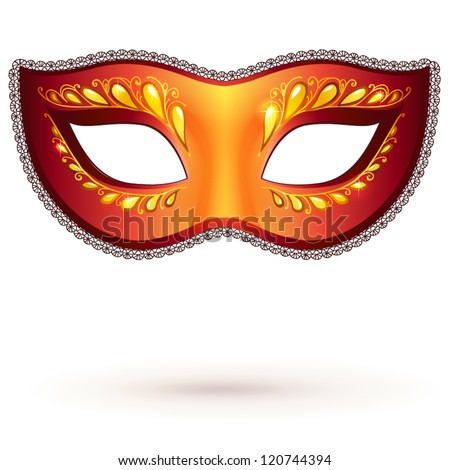 red ornate carnival mask