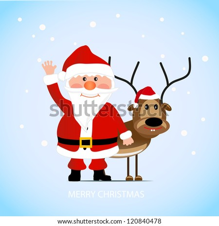 on the image santa claus with a