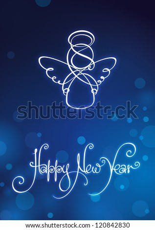 happy new year card eps v10
