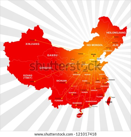 vector china map