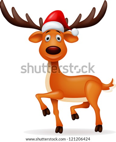 deer with red hat