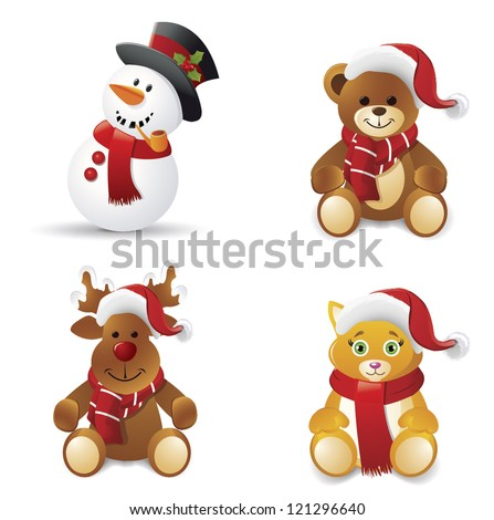 christmas icons setvector