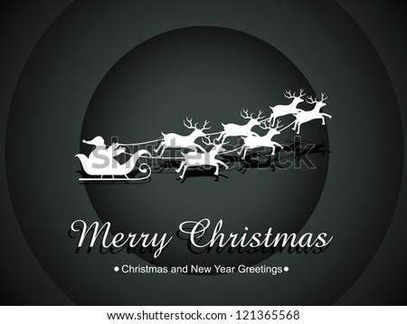 vector santa claus happy