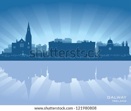 galway  ireland skyline with