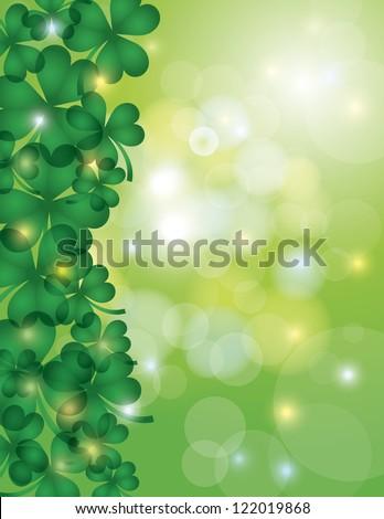 st patricks day shamrock leaves