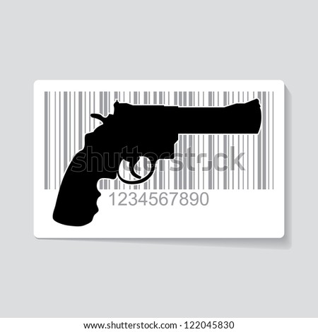 gun as barcode symbol