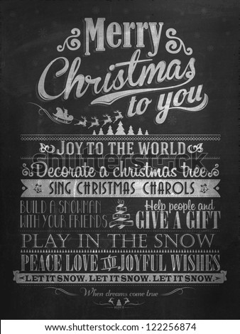 Vintage merry christmas and happy new year calligraphic and