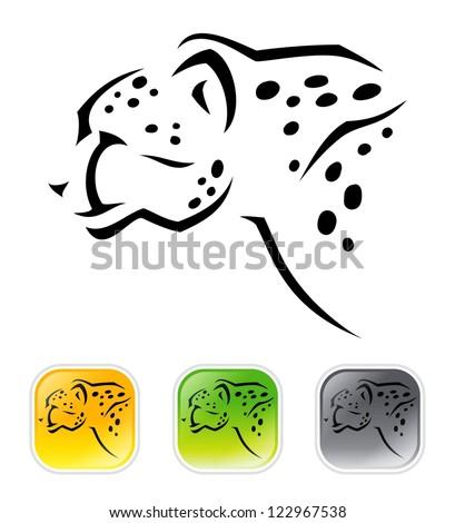 cheetah   vector illustration