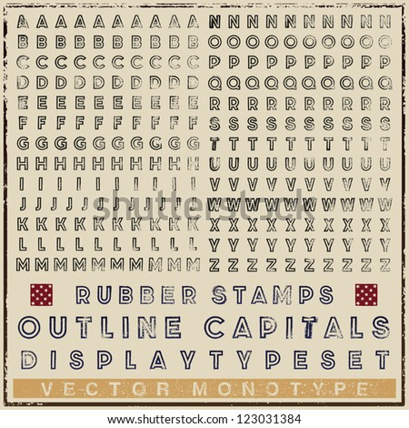 typeset of rubber stamp outline