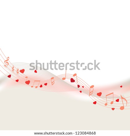 love song and music notes