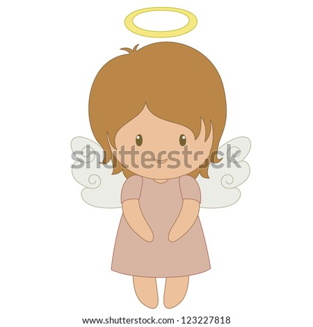 cute cartoon angel  isolated on