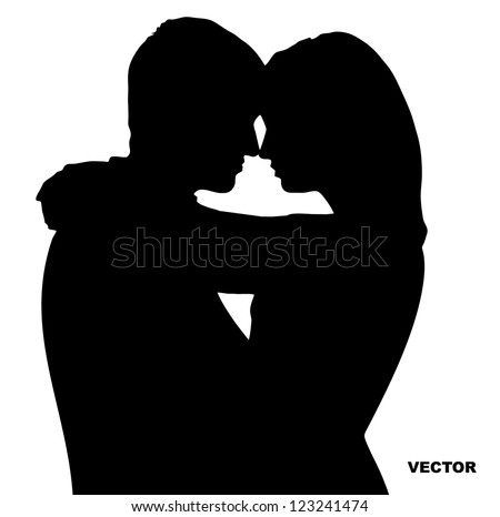 two lovers silhouette